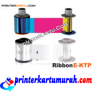 Ribbon Color YMCKH Printer E-KTP