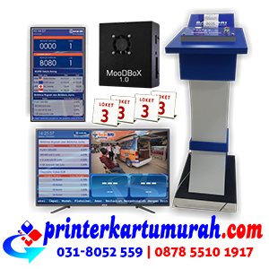 Mesin Antrian Bank BRI untuk Unit